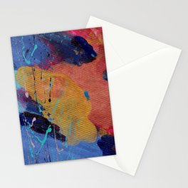 New Beginnings - Mixed Media Painting -Abstract Art Stationery Cards