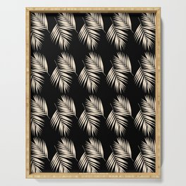 Palm Leaves Pattern #13 #Gold Touch #Black #decor #art #society6 Serving Tray