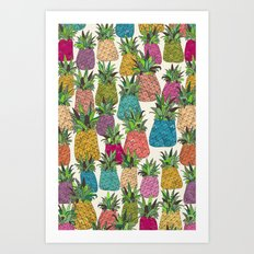 West Coast pineapples Art Print