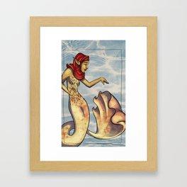 Fish Hippie Label - Chardonnay Framed Art Print