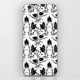 Pattern tree black iPhone Skin