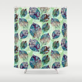 Colorful leaves III Shower Curtain
