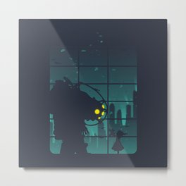 bioshock big daddy Metal Print