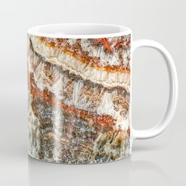 Agate Crystal III // Red Gray Black Yellow Orange Marbled Diamond Luxury Gemstone Coffee Mug