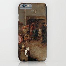 Adriaen Brouwer - Interior of a Tavern (1630) iPhone Case