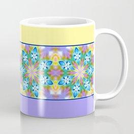 Abstract Blue Spring Flowers Coffee Mug