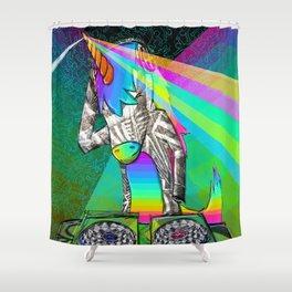 DJ Unicorn Shower Curtain
