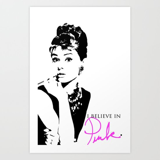 i believe in pink Art Print