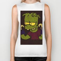 simpson Biker Tanks featuring Bart Simpson by Jide