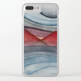 Geometric landscapes 06 Clear iPhone Case