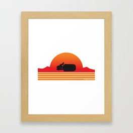 Rey Speeder Framed Art Print