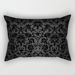 Black Damask Pattern Design Rectangular Pillow