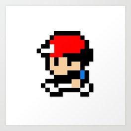 8-Bit Ash  Art Print