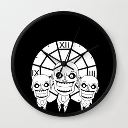 Hush - The Gentlemen (Black) Wall Clock