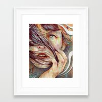 michael jackson Framed Art Prints featuring Opal by Michael Shapcott
