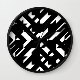 Shattered Hound Wall Clock