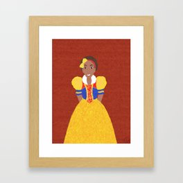 Princess Snow Framed Art Print