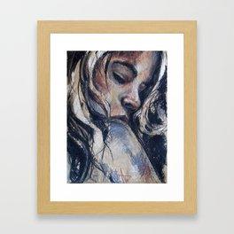 Touch the dream Framed Art Print