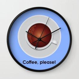 Coffee, please! Wall Clock