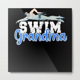Swim Grandma Metal Print