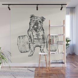 English Bulldog Lift Wall Mural