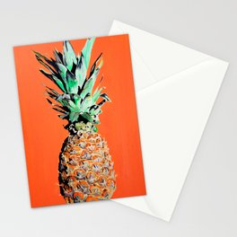 Pineapple pop art painting Stationery Cards