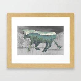 Bull in the Mountains Framed Art Print