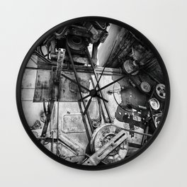Soviet Combine Harvester Black and White Wall Clock