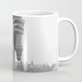 Statue Of Liberty, 1876, right arm with torch on display Liberty Island black and white photograph Coffee Mug