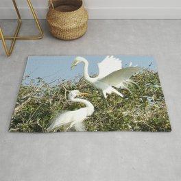 Bird Series: Nesting Great Egrets Rug