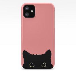 Sneaky black cat iPhone Case
