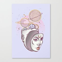 Face Falling From Space Canvas Print