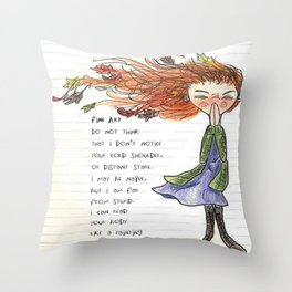 Windy Wendy Throw Pillow