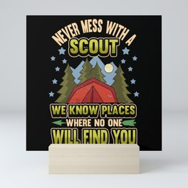 Scout Camping Scouting Nature Campfire Gift Mini Art Print