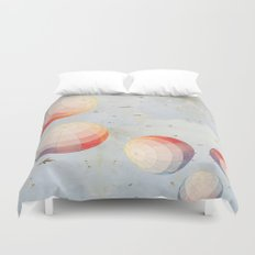 I found you falling from the sky Duvet Cover