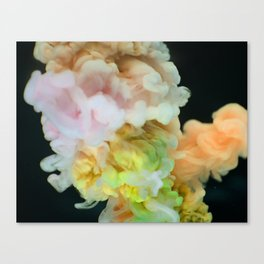 Multicolor smokey texture Canvas Print