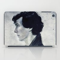 sherlock iPad Cases featuring Sherlock by LindaMarieAnson