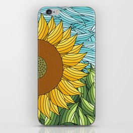 SUNNY DAY (abstract flowers) iPhone Skin