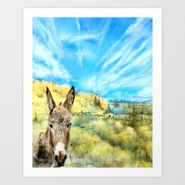A Brayer for New Mexico Art Print
