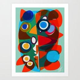 Pop Abstract Animals Art Print