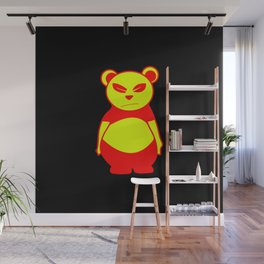 Andy's bear | pop art (yellow and red) Wall Mural