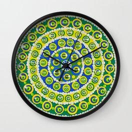 Green & Blue Dots Wall Clock