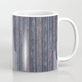 Vintage Wood background - photo wallpaper blue Coffee Mug