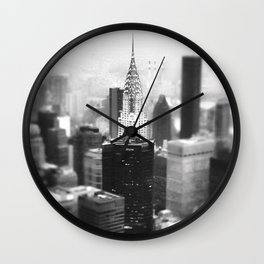 New York City  Skyline - Fog Wall Clock