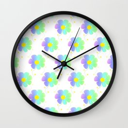 Blossom Repeat Wall Clock
