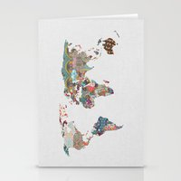 tapestry Stationery Cards featuring Louis Armstrong Told Us So by Bianca Green