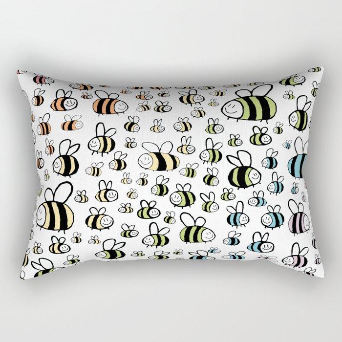 Rainbow bumble bee pride design Rectangular Pillow