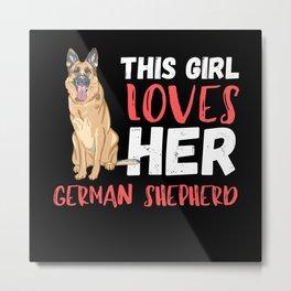 This Girl Loves Her German Shepherd Metal Print