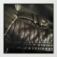 leather Canvas Prints featuring Leather by Adam Grey