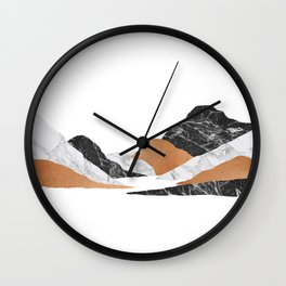 Marble Landscape II, Mountains Wall Clock